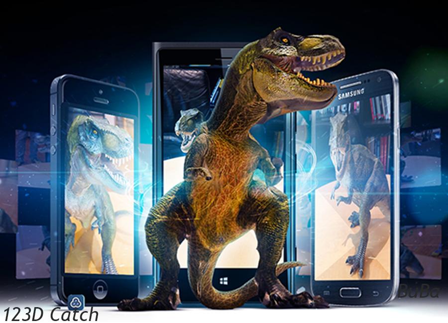 imagem 3D_ 123D Catch_dinosauro