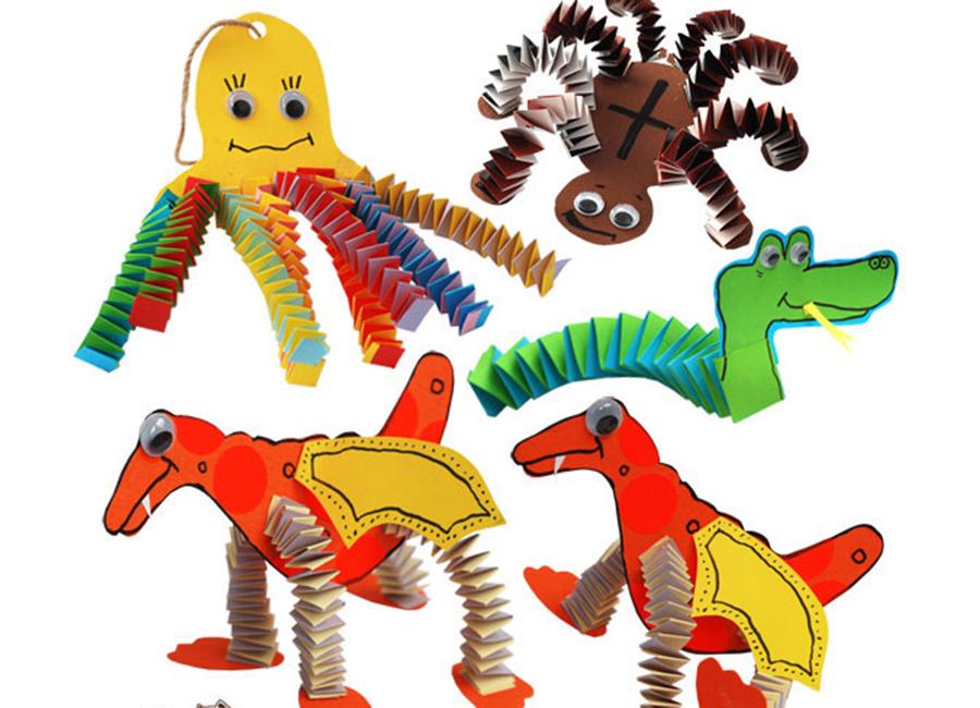 animais de papel