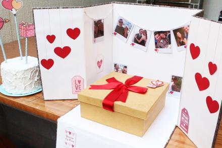 Aprenda a fazer uma surpresa para o dia dos namorados, festa na caixa.